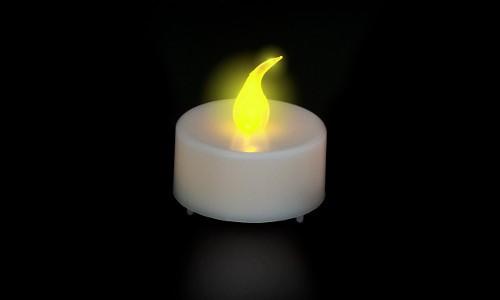 BOUGIE A LED JAUNE - D.38 : J101-YF